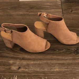 Chinese Laundry dusty pink block heels